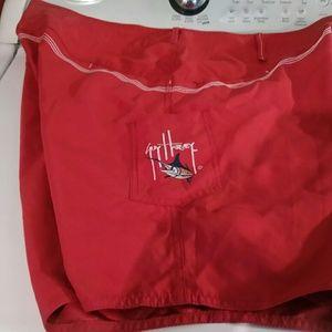 Mens Guy Harvey red board shorts sz 40